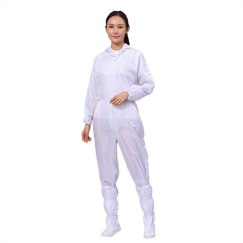 Polyester Material ESD Cleanroom Suit For Cleanroom - KingCare   KingCare.net