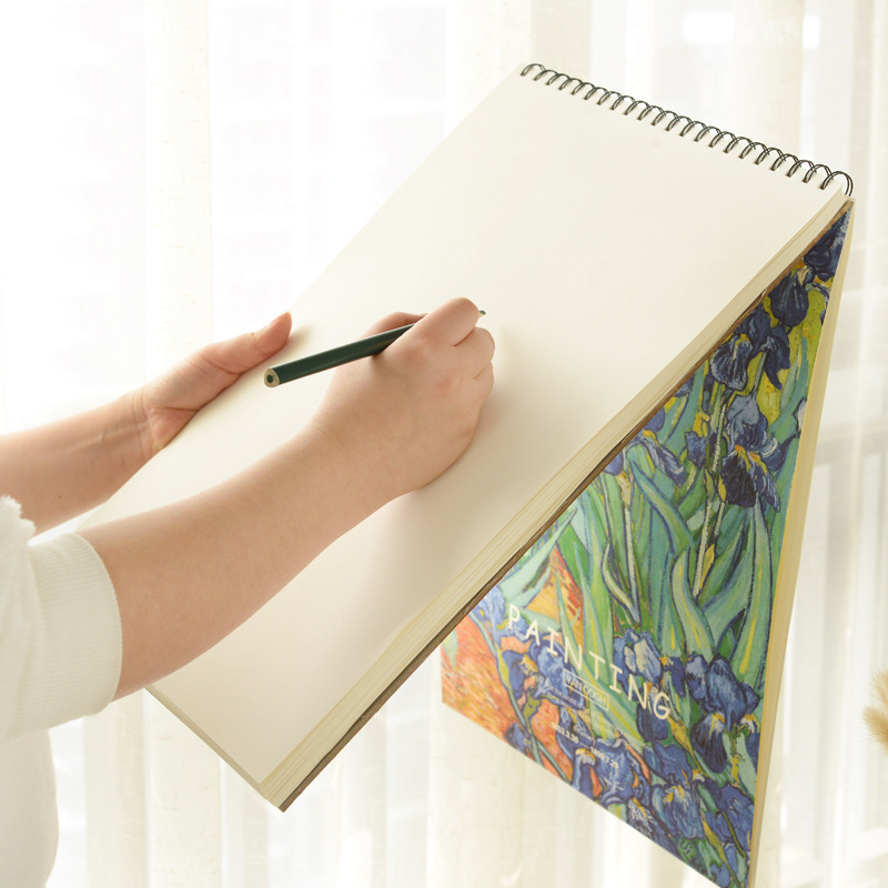 High quality spiral binding notebook sketch book with blank inner page