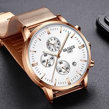Часы HAIQIN мужские, модные, механические, спортивные, кварцевые, водонепроницаемые(Китай)