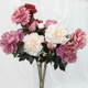 Yutian Artificial Big Size Peony 3 Heads Flowers 90cm Length Retro Style for Home Decor and Wedding Decor