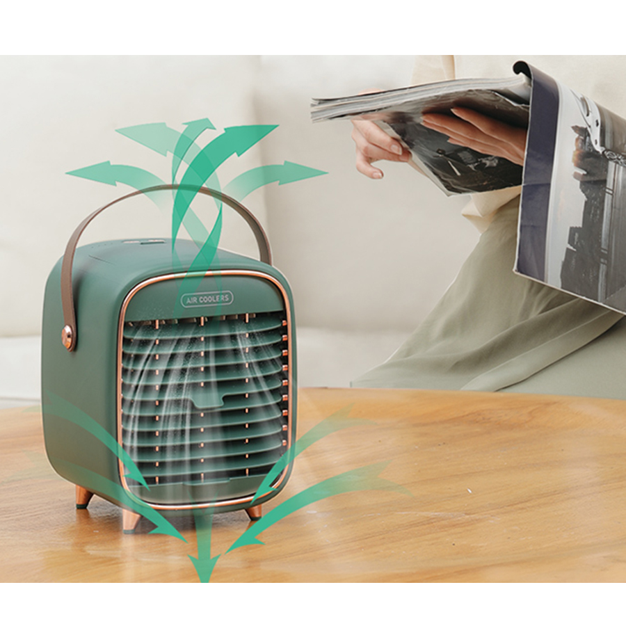 2020 New Arrivals Supplier Wholesale Air Coolers Desktop Fan Cooling Humidifying Portable Usb Air Cooler Fan For Office Home