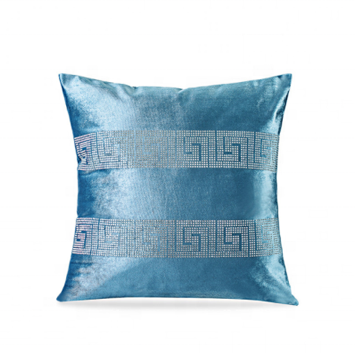 Elegant Square Jacquard velvet Throw Pillow Cover Sofa Cushion Cover