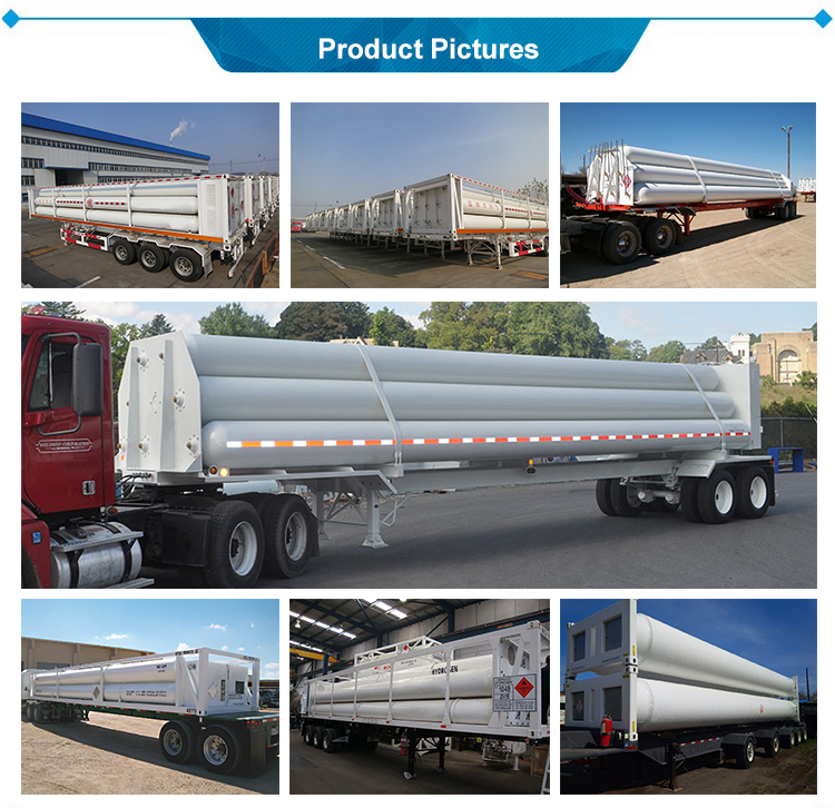 Gas Cylinder 6 pipes Container tube CNG semi trailer