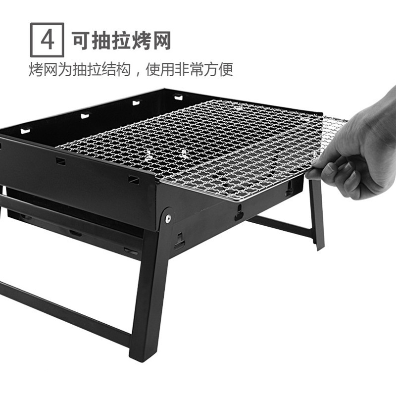2020 best sale cheap Garden BBQ Grill Folding Outdoor Charcoal Smoker imported portable charcoal grill