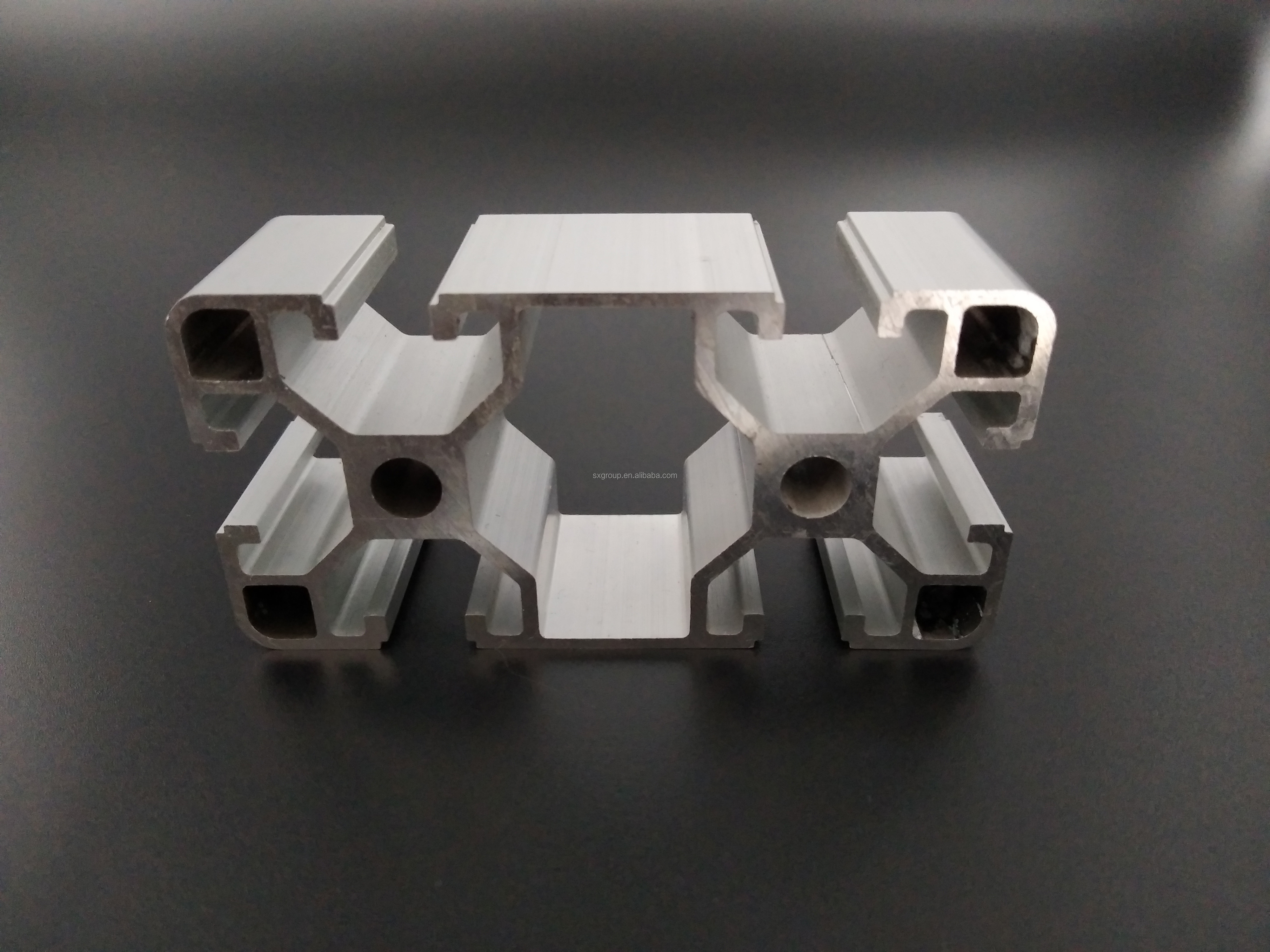 Shengxin Anodized V T U Channel Slot Extruded Industrial Guide Rail Per Ton Of Aluminum Profile