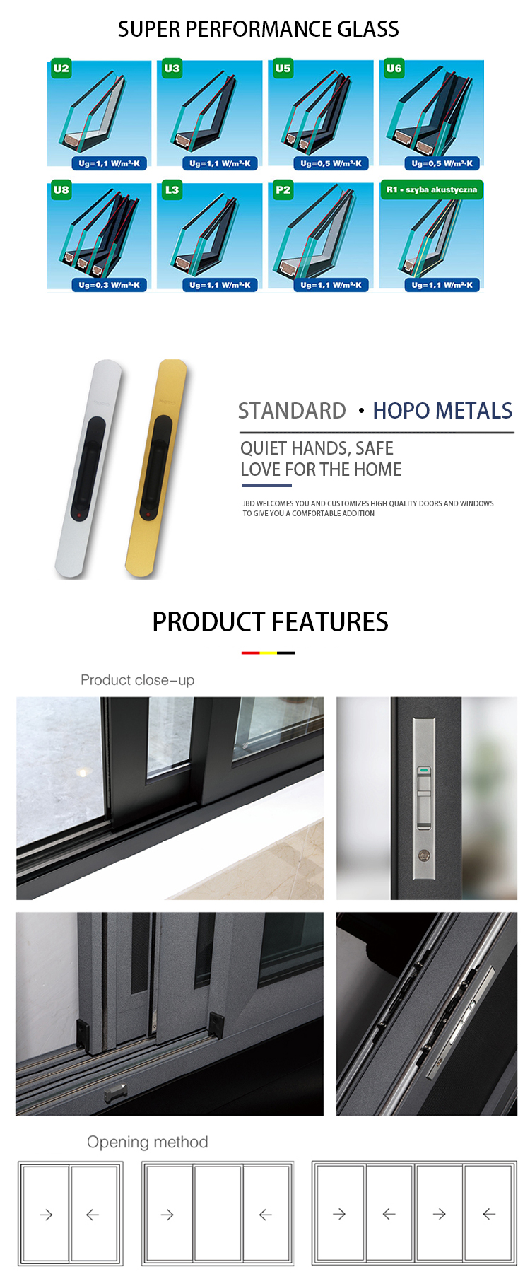 Powder Coated Finished Aluminum Reflective Glass Sliding Windows With Stainless Steel Fly Screen