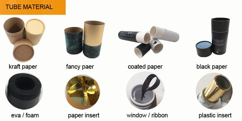 Professional customized printing kraft paper carton tube/paper tube packaging