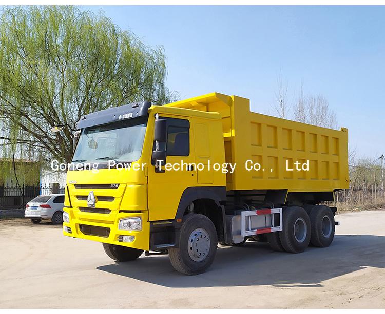फैक्टरी प्रत्यक्ष बिक्री इस्तेमाल किया sinotruk डंप ट्रक howo टिपर ट्रक 6x4 बंद गाड़ी 371hp 375hp