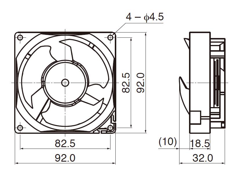 3 охлаждающего вентилятора охлаждения оборудования лезвия делают мотор водостойким Дк 12В 92мм для холодильника