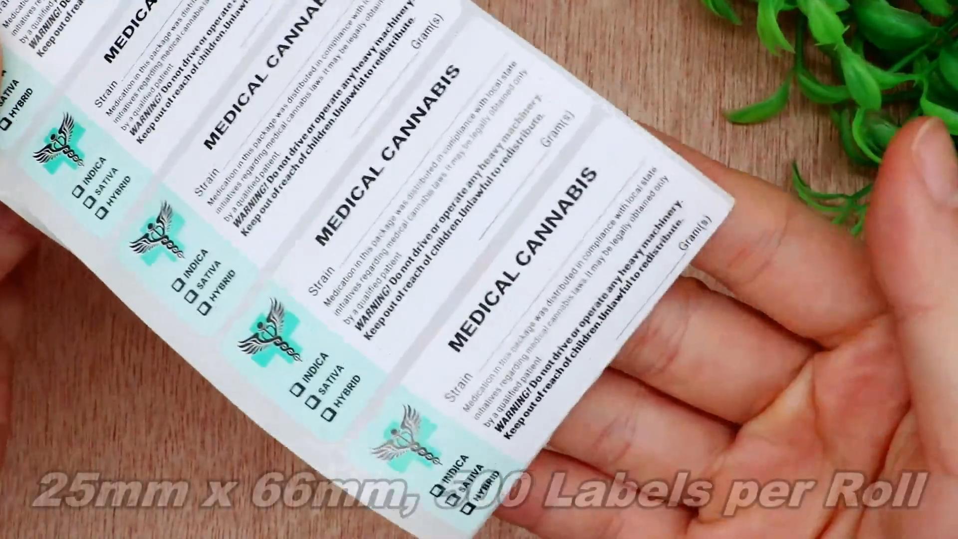 Hybsk genérico médico cepa etiquetas-Etiquetas de Estado a médicos olla etiquetas Sticky Icky identificador