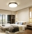 Minimalist Indoor LED Round Ceiling Dining Light Cheap Acrylic Flush Mount Lamps For Balcony Bedroom Living Room