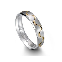 925 sterling silver ring men 925 silver rings fancy promise jewelry With gold plating