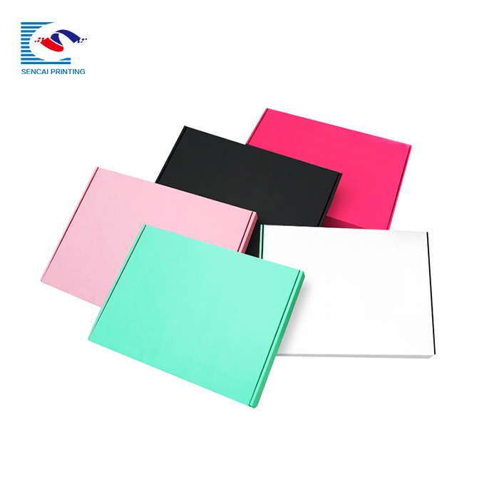 SENCAI wholesale cuotom size colorful clothes packaging corrugated shipping paper box for T-shirt