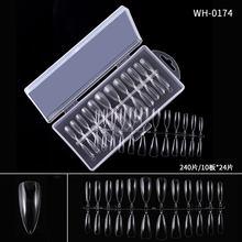 240 шт накладные ногти, высокое качество, бесшовные ультра-тонкие накладные ногти, аксессуары для украшения(Китай)