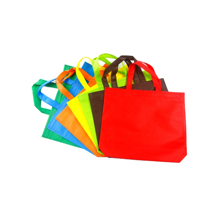 Carry Bag Non Woven tote Shopping Bag Eco Friendly Promotional Biodegradable Pp Spunbond Pla Non Woven Fabric Handled
