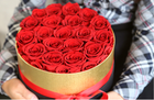 BLH 2020 New Arrival Everlasting Preserved Rose in Round Gift Box Never Fading Flowers Fresh Roses