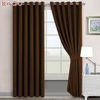 High quality luxury home polyester woven 100% blackout fabric window curtain cloth 2 sided
