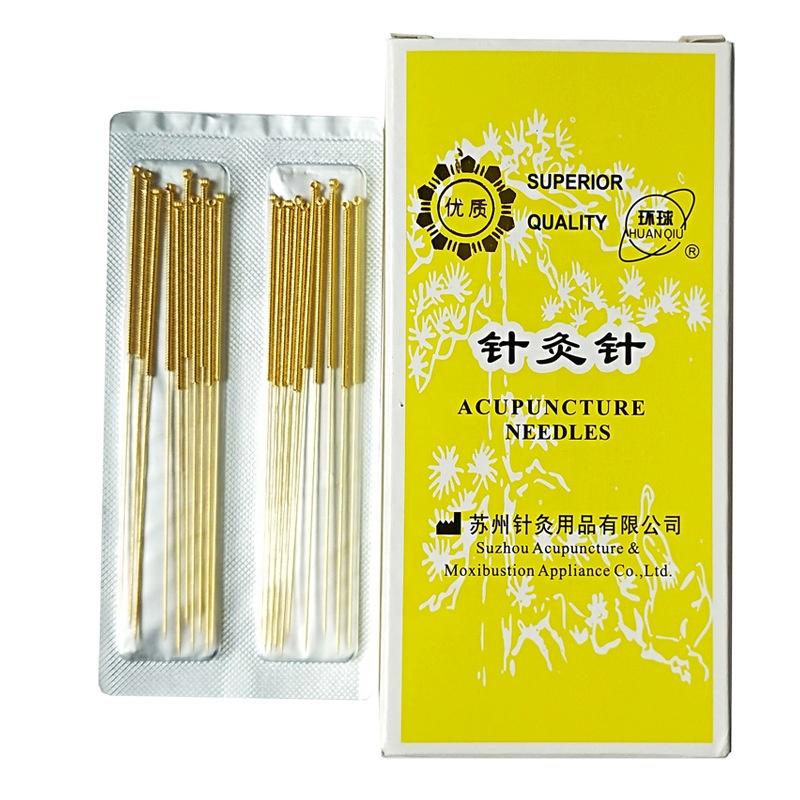 HUANQIU Chinese voller gold-überzogene nicht-einweg akupunktur nadeln 20pcs Gold Akupunktur Nadeln