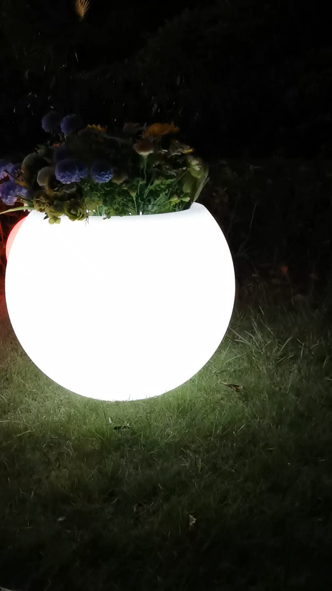Led light flower pot Led decoration color changeable flower pot wireless with rechargeable battery