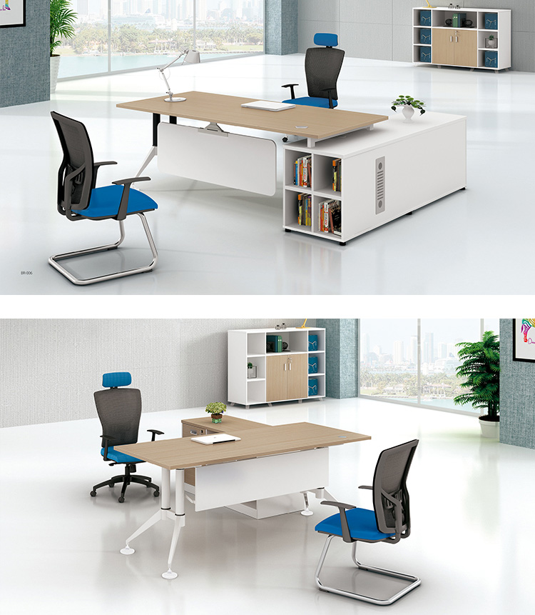 commercial furniture table manager executive office desk modern  L shaped office standing desk