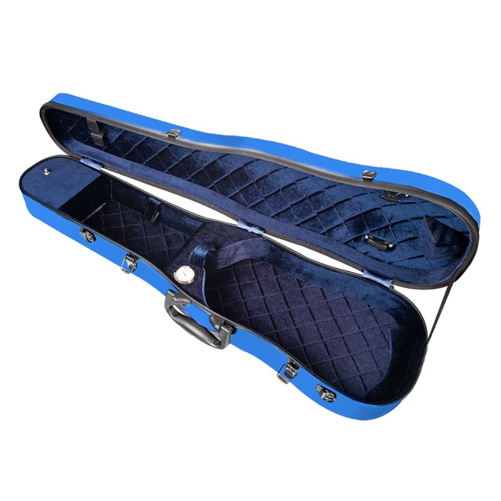 Free shipping blue carbon fiber composite material hard cello case 4//4