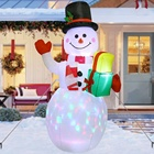 Led Lights Christmas Ourwarm Wholesale 5ft Outdoor Decoration LED Lights US Christmas Snowman Inflatable
