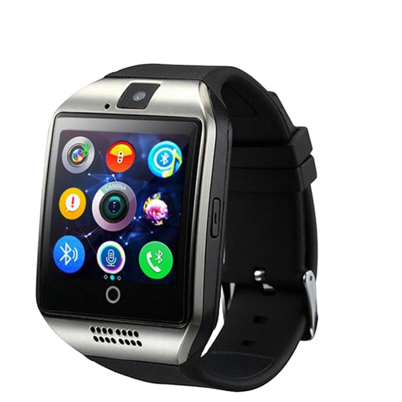 Montre Intelligente Bluetooth Smartwatch Q18 Android Appel Relogio 2G GSM SIM Carte TF Caméra pour iPhone Samsung Smart montres
