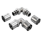 WRAS approval water brass press fittings Equal Elbow for multilayper pipe