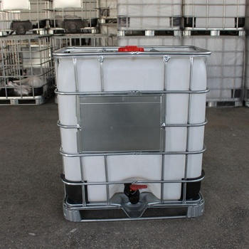 HDPE Rotating Process 500l Fuel Ibc Container Tank with Galvanized Steel Outside