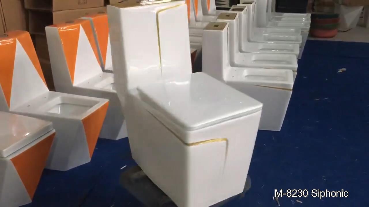 China louças sanitárias do top 10 marcas wc taças coloridas