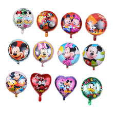 18inch herz runde form Mickey Maus donald duck folie luftballons Mickey Minnie cartoon helium ballon für kinder spielzeug