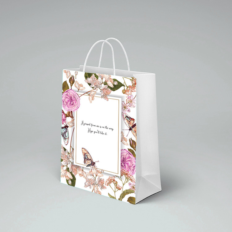 product-Custom Mini Printed Cookies Packaging Paper Bread Bags For Shopping-Dezheng-img-1