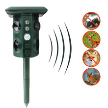 Ultrasonic Animal Repeller Ao Ar Livre À Prova D' Água Cobra Repeller Rato Solar Power Repeller Animal