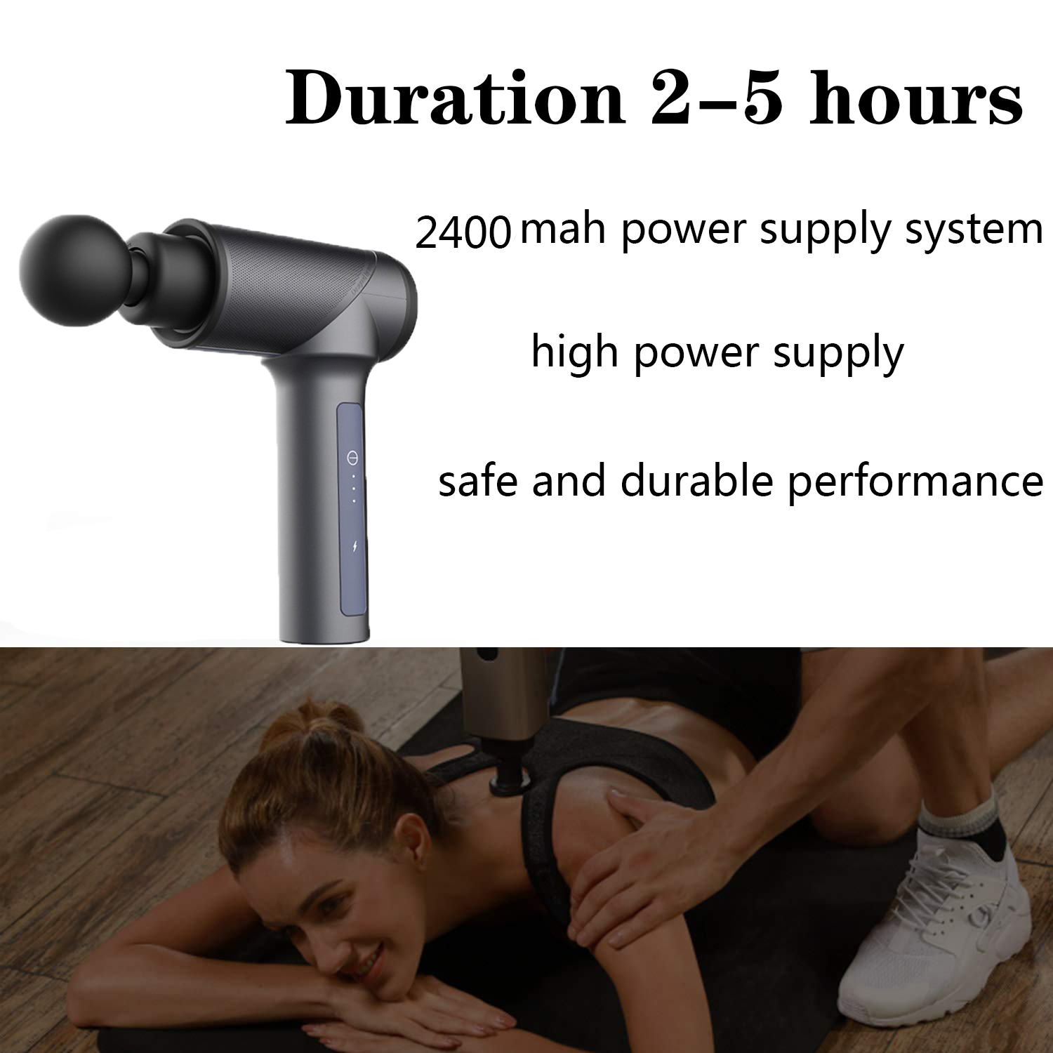 Therapy Fascia Hand Held Rechargeable 24V Cordless Deep Tissue Vibration Massage Gun