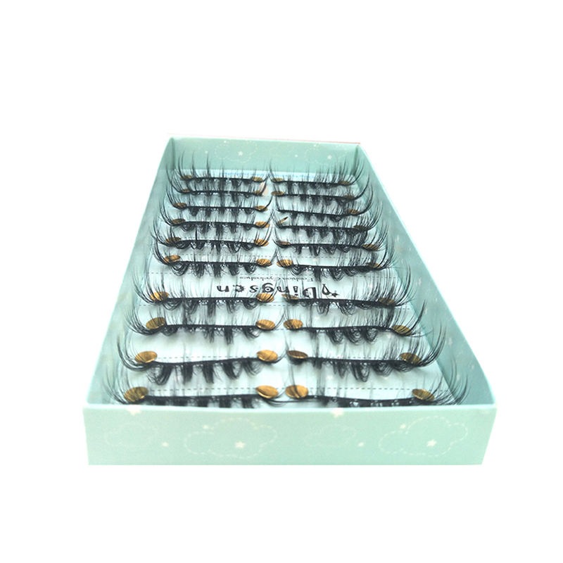 OEM DINGSEN New 10 pairs natural false eyelashes fake lashes long makeup 3d mink lashes extension eyelash mink eyelashes