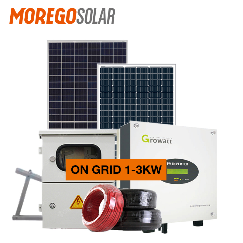 Moregosolar on-grid solar system 10KW 20KW 30KW 40KW 50KW 100KW solar energy system price for solar kit