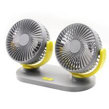 Автомобильный Универсальный двойной головкой вентилятор автомобиля 12V/24V автомобильный вентилятор небольшой Электрический вентилятор бол...(Китай)