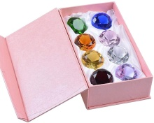 50mm (2 in.) Crystal Diamond Piraat Gems en Juwelen Presse-papier Tafel Decor Multicolor met Geschenkdoos