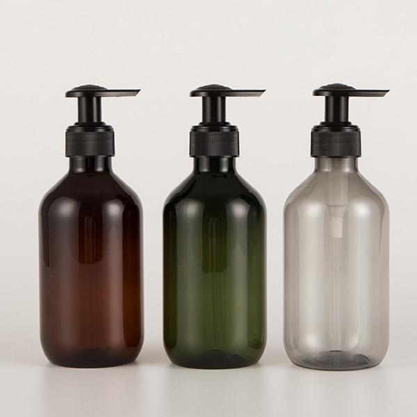زجاجة مفرغة زيت شعر الصابون السائل زجاجات بوسطن جولة رغوة مضخة زجاجة شامبو بلاستيكية