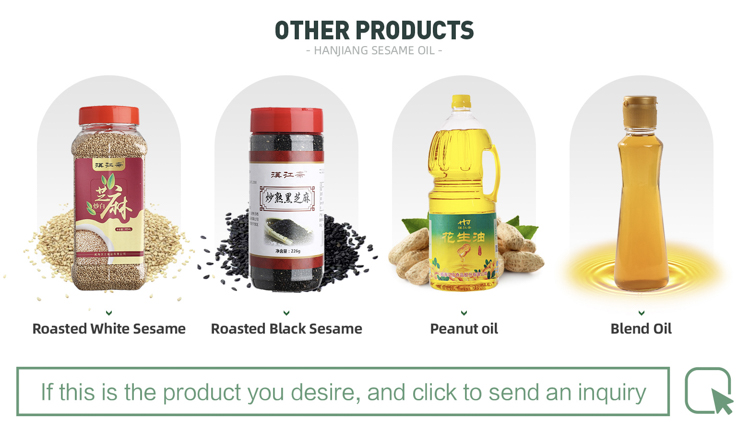 high quality Non-GMO cold pressed sesame oil wholesale cooking oil
