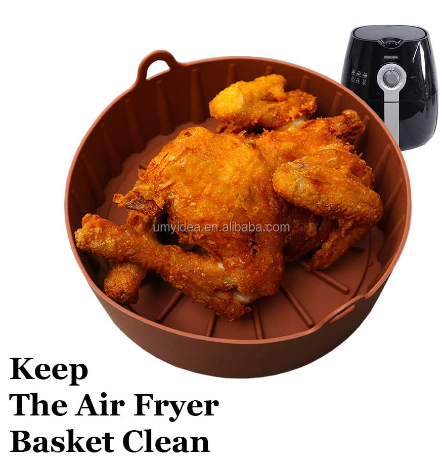 2020 Super Easy Wash Air Fryer Silicone Pot Replacement Paper Liners,Air fryers Oven Accessories 3 QT 5.3 QT 6QT 8Quart