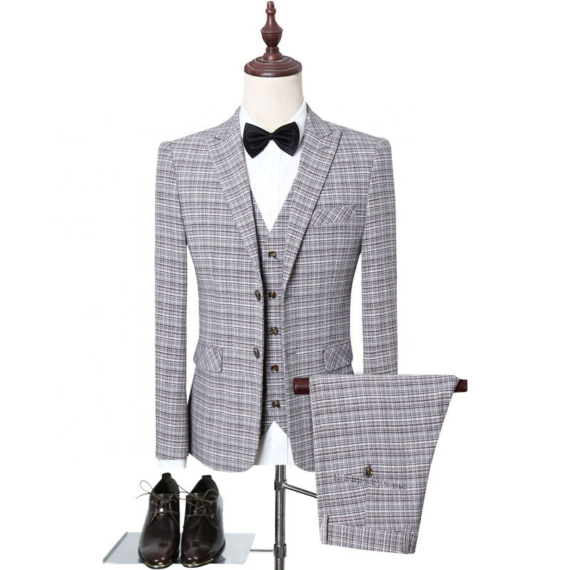 Grey Wedding Suits For Men Groomsman Suits Business Suits Ready To Ship