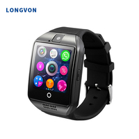 Wholesale Factory Price Bluetooth Cheap 6 USD Q18 Smart Watch with Touch Screen Camera Sim Card