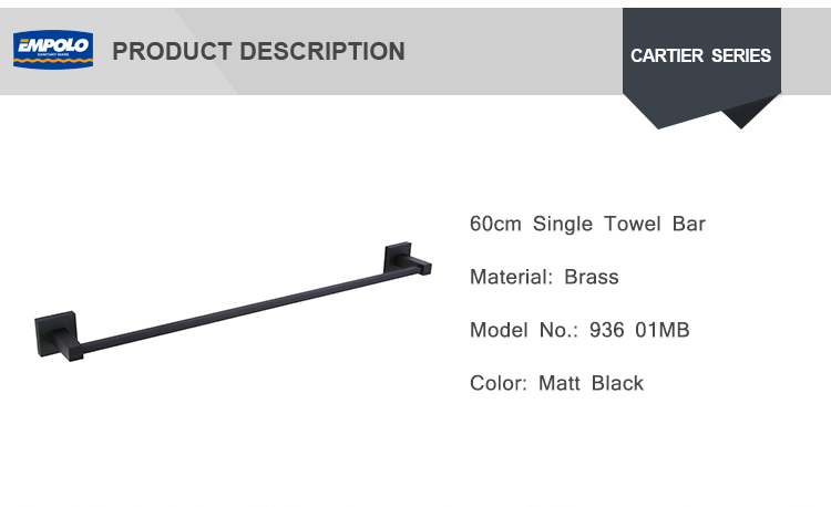 Family Hotel Bathrooms Wall Shower Matte Black Antiqu Towel Rack