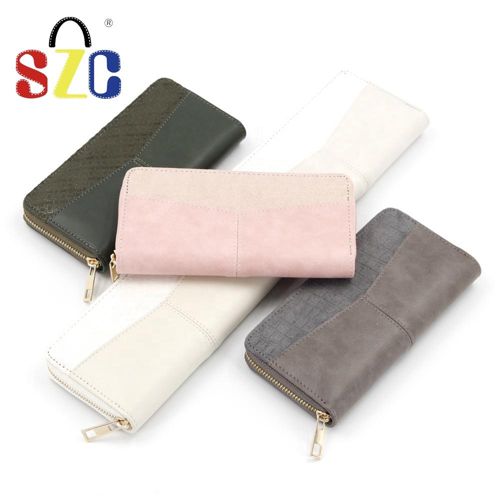 여성 지갑 PU 지퍼 키 홀더 패션 신용 카드 가방