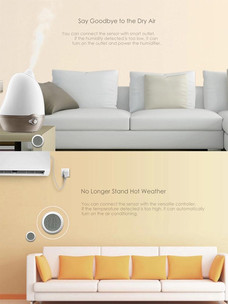 Temperatura e Umidade Sensor De Zigbee Casa inteligente para a Aplicação Em Casa