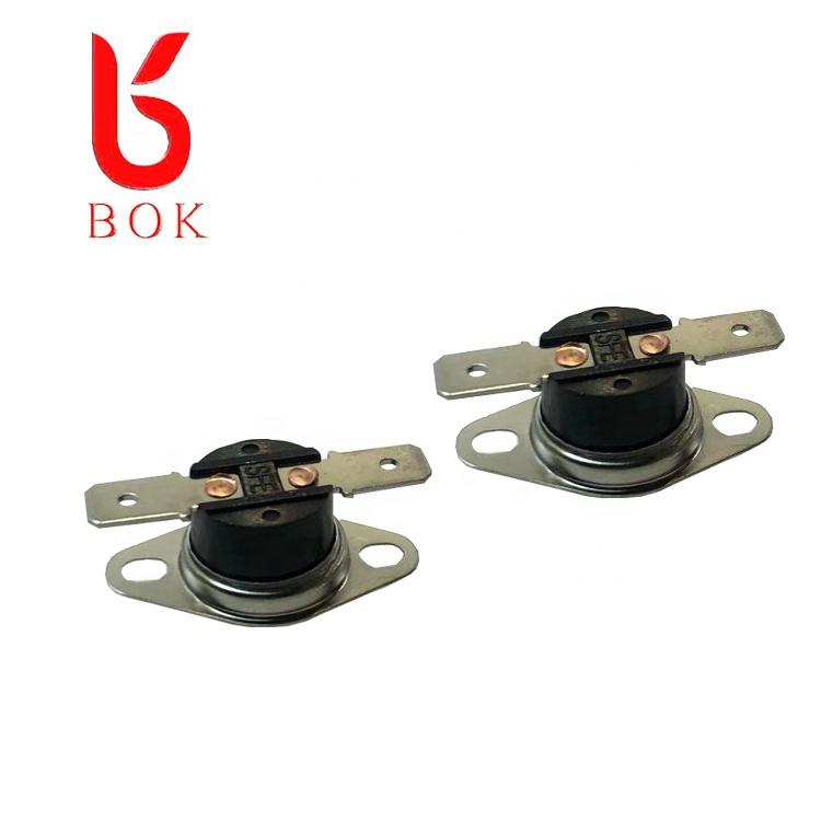 Temperature fuse 55c normally closed KSD 301 KSD302 bimetal thermostat thermal temperature switch 250V 10A