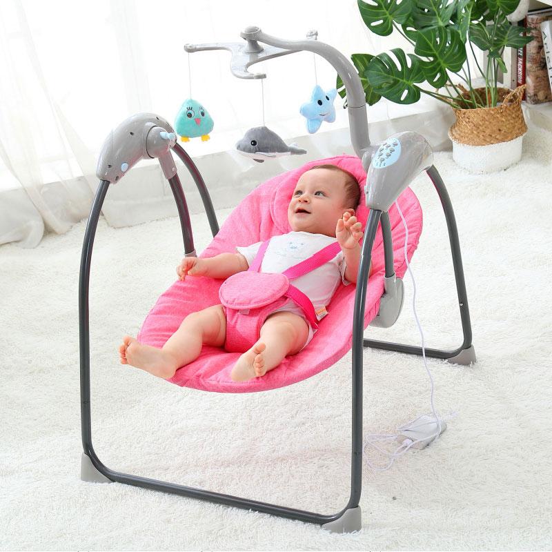 Custom Design Luxury Baby Swing Bouncer, Cobabies Baby Rocker With Toys/