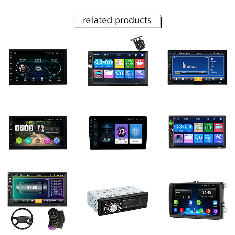Factory Wholesale Android Car DVD  Player With HD Camera Car Video Player