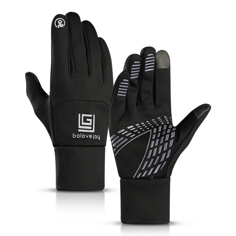 Winter Outdoor Sports Gloves Touch Screen Unisex Waterproof Windproof Warm Riding Velvet Skiing Gloves